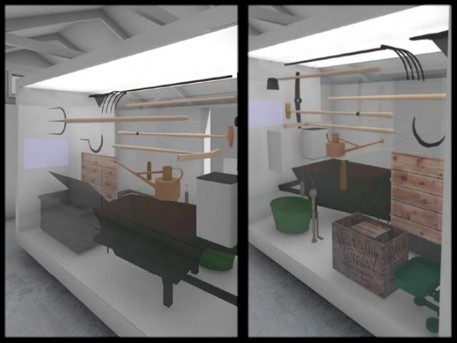 Stone Shed Museum - display concept
