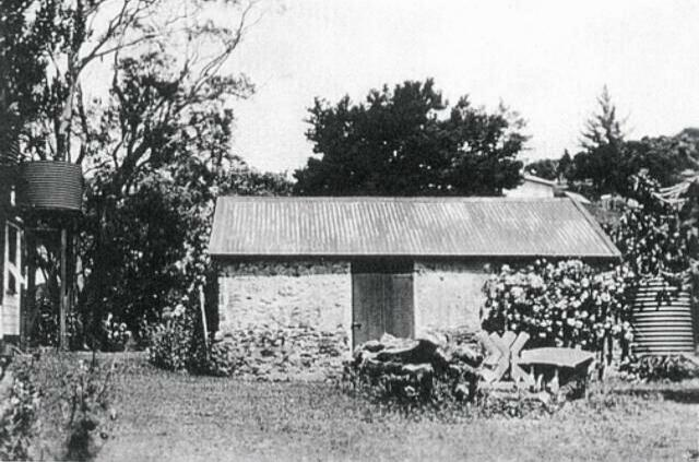 Williams House Paihia - the stone shed in the 1960s