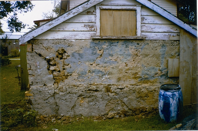 Williams House Paihia - a view from the west end of the stone shed in 2005