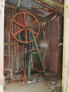 Williams House Paihia - view of the water pump in the pumphouse